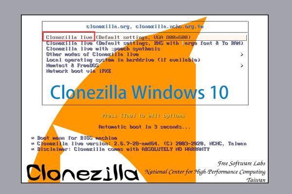 Bagaimana Menggunakan Clonezilla di Windows 10? Adakah Alternatif Clonezilla? [Petua MiniTool]