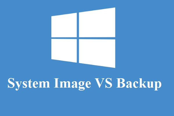 Slika sustava VS Sigurnosna kopija - Koji je prikladan za vas? [MiniTool Savjeti]