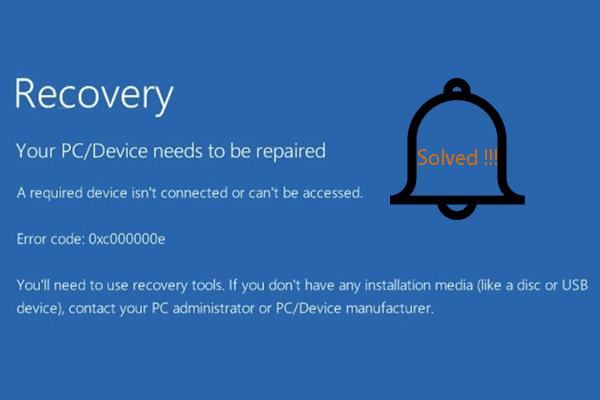 6 A szükséges eszközök javításai nincsenek csatlakoztatva vagy nem érhetők el [MiniTool tippek]