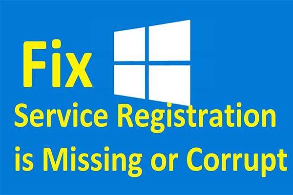 [FIX] Teenuse registreerimine puudub või on rikutud [MiniTooli näpunäited]