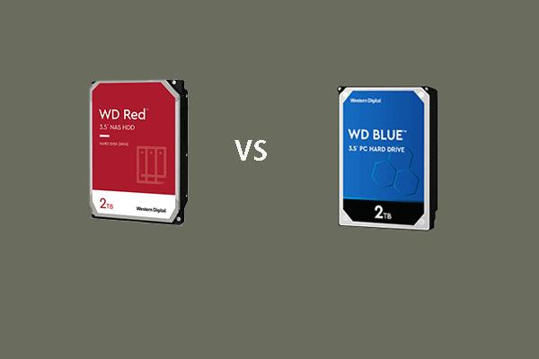 WD Red vs Blue: Apa Perbezaan dan Mana Yang Lebih Baik? [Petua MiniTool]
