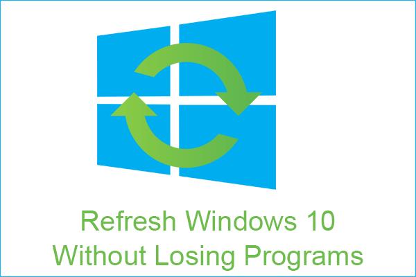 Duas soluções para atualizar o Windows 10 sem perder programas [dicas do MiniTool]