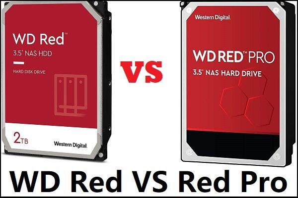 WD Red VS Red Pro HDD: kumba peaksite valima? [MiniTooli näpunäited]