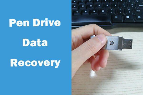 Andmete taastamine pendrive'ilt tasuta | Pendrive'i andmeid ei kuvata [MiniTooli näpunäited]