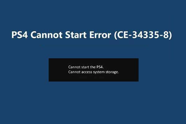 PS4 ne može pristupiti sustavu za pohranu? Dostupni popravci su ovdje! [Savjeti za mini alat]