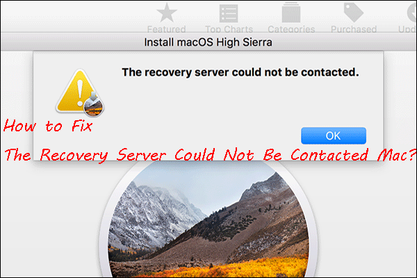 [Решено!] Није могуће контактирати сервер за опоравак Мац [МиниТоол Типс]