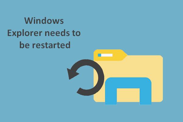 [ŘEŠENO] Je třeba restartovat Průzkumníka Windows: Opravený problém [Tipy MiniTool]