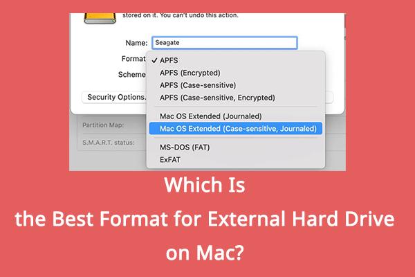 Qual é o melhor formato para disco rígido externo no Mac? [Dicas de MiniTool]