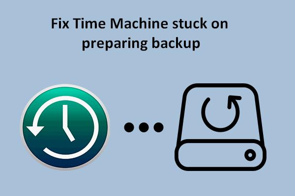 ¿Time Machine está atascado en la preparación de la copia de seguridad? Problema resuelto [Sugerencias de MiniTool]