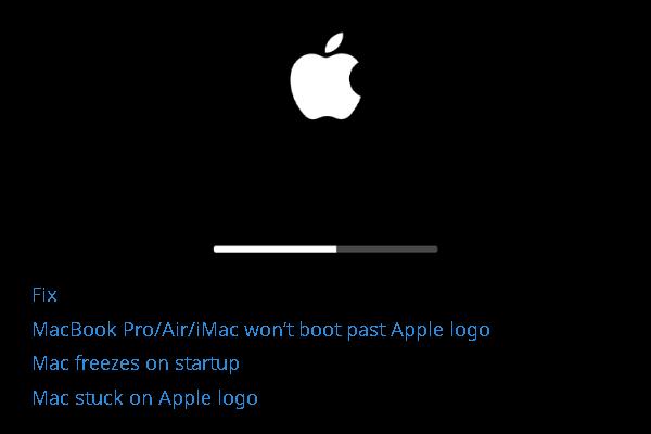 [Resolvido!] O MacBook Pro / Air / iMac não inicializa depois do logotipo da Apple! [Dicas de MiniTool]