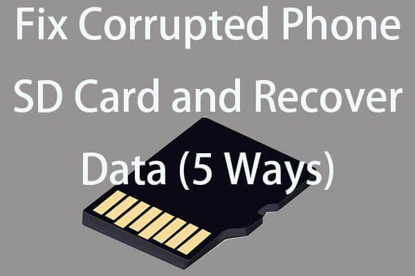 Parandage minu telefon SD tasuta: parandage rikutud SD-kaart ja taastage andmed 5 viisi [MiniTooli näpunäited]
