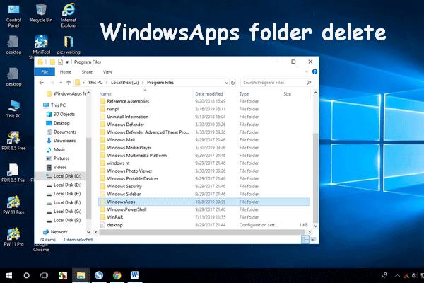 A WindowsApps mappa törlése és engedély megszerzése [MiniTool tippek]