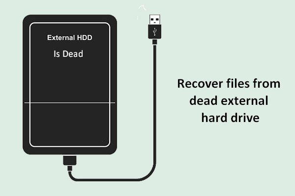 Cómo recuperar archivos de un disco duro externo muerto (solución fácil) [Consejos de MiniTool]