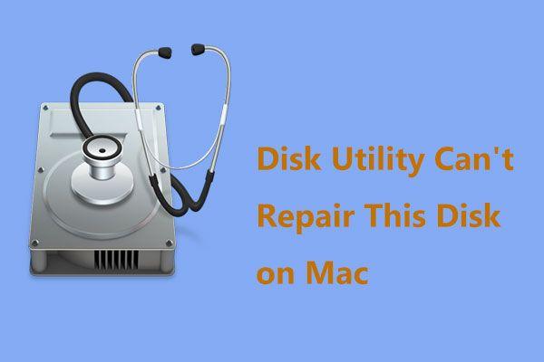 Disk Yardımcı Programı Mac'te Bu Diski Onaramıyor mu? Şimdi Çöz! [MiniTool İpuçları]