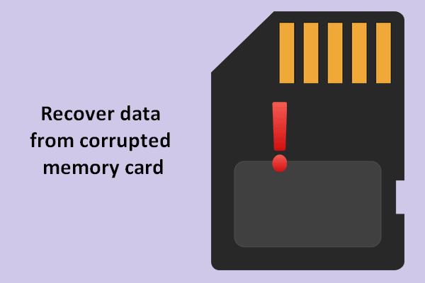 Andmete taastamine rikutud mälukaardilt nüüd hämmastava tööriistaga [MiniTooli näpunäited]