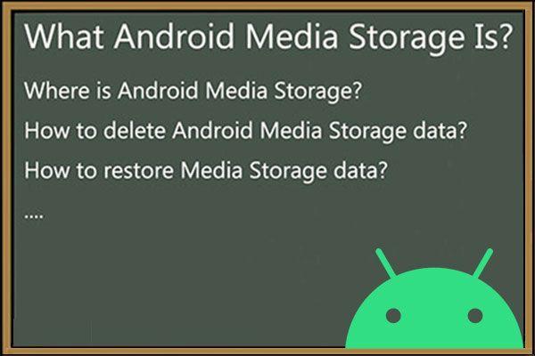 Medienspeicher Android: Löschen von Medienspeicherdaten und Wiederherstellen von Dateien [MiniTool-Tipps]