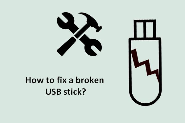 Failide taastamine katkisest või rikutud USB-mälupulgast [MiniTooli näpunäited]