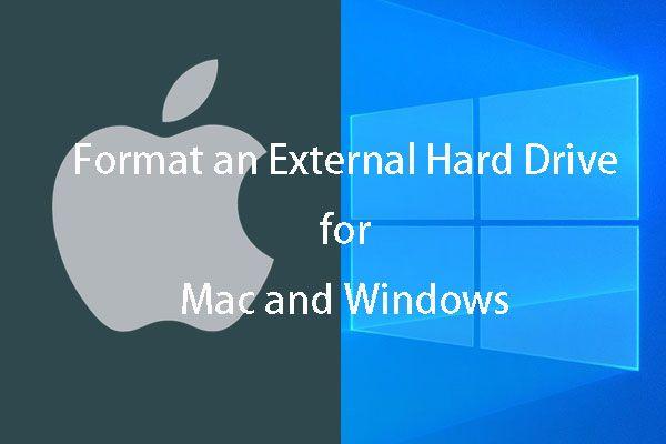 Formate rapidamente um disco rígido externo para Mac e PC com Windows [dicas do MiniTool]