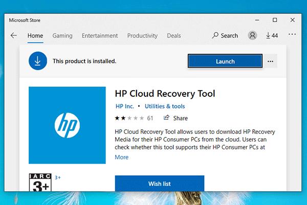 Ako preinštalovať Windows Free? Používanie nástroja HP Cloud Recovery Tool [MiniTool Tips]
