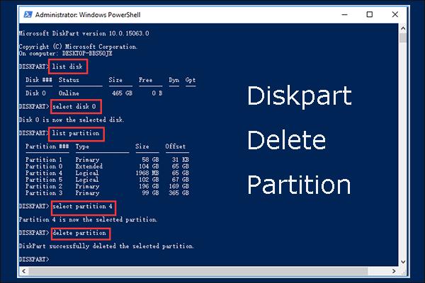 Részletes útmutató a Diskpart partíció törléséről [MiniTool tippek]