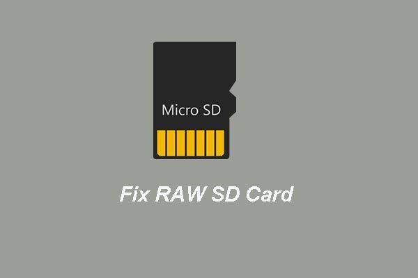 RAW SD Kartı veya Harici Sürücü Nasıl Onarılır: Nihai Çözüm 2021 [MiniTool İpuçları]