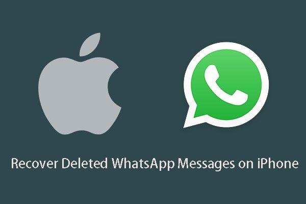 Kustutatud WhatsAppi sõnumite taastamine iPhone'is - parim viis [MiniTooli näpunäited]