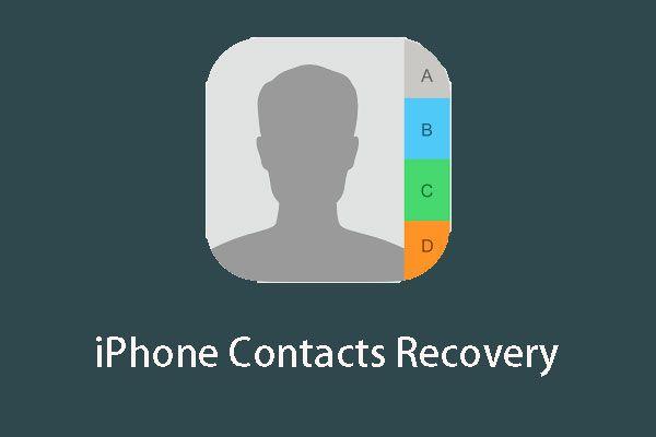 Kuidas iPhone'is kontakte taastada? Siin on viis meetodit [MiniTooli näpunäited]
