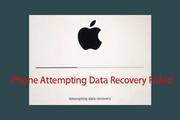 [RJEŠENO] Pokušaj oporavka podataka od iPhonea nije uspio? Kako se oporaviti? [MiniTool Savjeti]