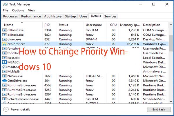 2 viisi - kuidas seada prioriteetset Windows 10 [sammhaaval] [MiniTooli uudised]
