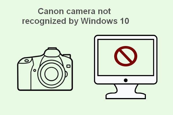 A Canon kamerát a Windows 10 nem ismeri fel: Javítva [MiniTool News]