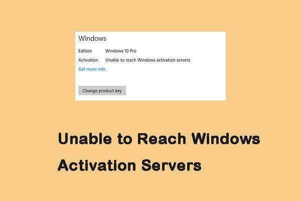 Como corrigir o erro Incapaz de alcançar o Windows Activation Servers? [Notícias MiniTool]
