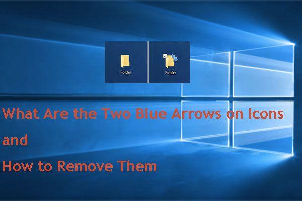 Kuidas eemaldada ikoonide kaks sinist noolt? [MiniTooli uudised]