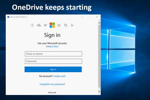 Como desativar quando o Microsoft OneDrive continua iniciando [MiniTool News]