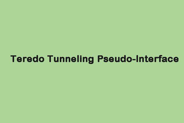 A Teredo alagút ál-interfész hiányzó hibájának kijavítása [MiniTool News]