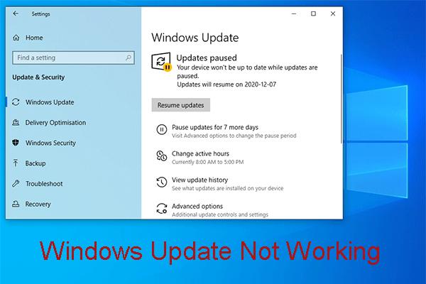 Windows Update Çalışmıyor mu? İşte Yapmanız Gerekenler [MiniTool Haberleri]