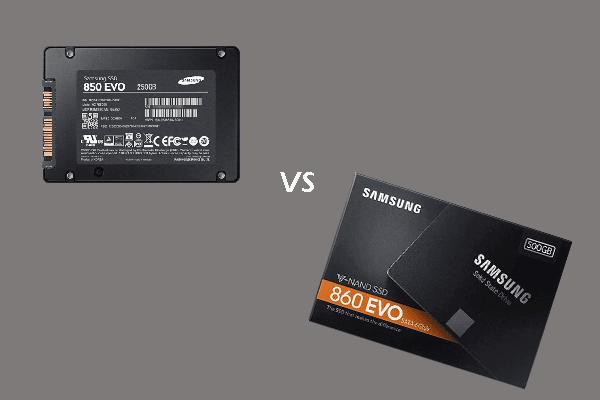 850 EVO vs 860 EVO: U čemu je razlika (fokus na 4 aspekta) [MiniTool News]