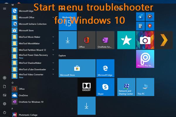 Laadige alla menüü Start veaotsing Windows 10 jaoks ja probleemide lahendamine [MiniTooli uudised]