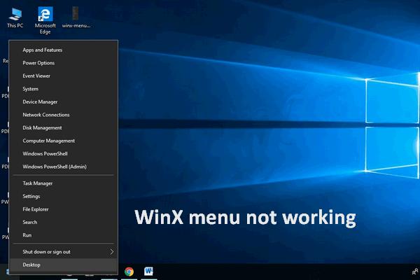 [Tetap] Menu WinX Tidak Berfungsi di Windows 10 [Berita MiniTool]