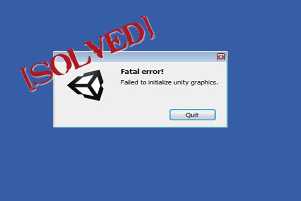 ¿Cómo solucionar el error 'No se pudo inicializar los gráficos de Unity'? [Noticias de MiniTool]