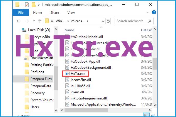 Što je HxTsr.exe u sustavu Windows 10 i biste li ga trebali ukloniti? [MiniTool vijesti]