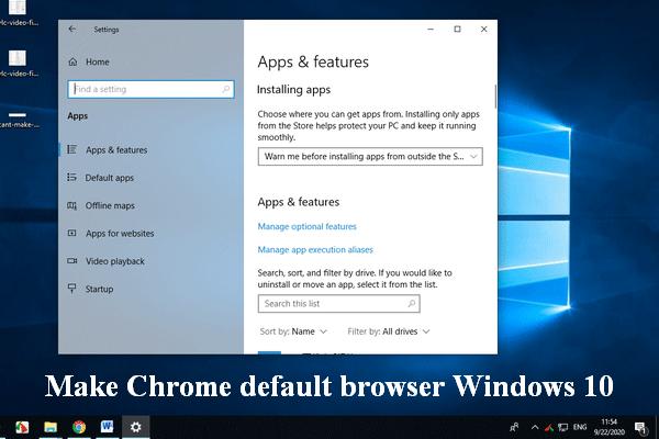 Ei saa Chrome'ist Windows 10 vaikebrauserit muuta: lahendatud [MiniTool News]