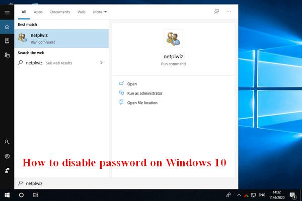 Kako onemogućiti lozinku na sustavu Windows 10 u različitim slučajevima [MiniTool News]