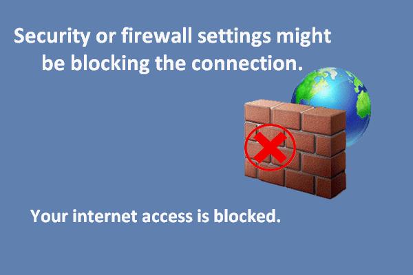 Es posible que la configuración de seguridad o firewall esté bloqueando la conexión [Noticias de MiniTool]