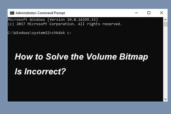 Како решити количину битмапа која није тачна приликом провере диска? [МиниТоол вести]
