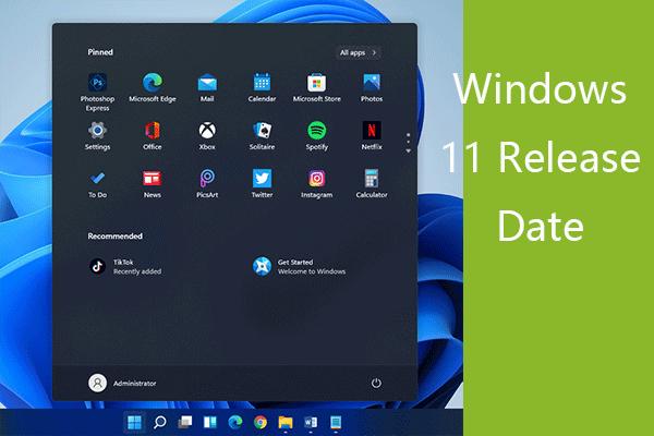 Windows 11 megjelenési dátum: Várható nyilvános kiadás 2021 végén [MiniTool News]