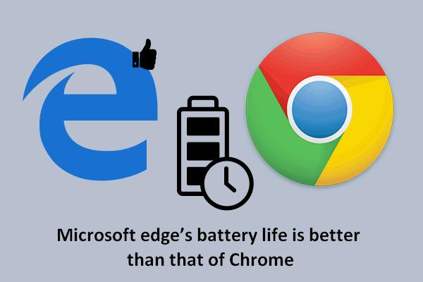 Microsoft Edge'i aku kestvus ületab Chrome'i Win10 versioonis 1809 [MiniTool News]