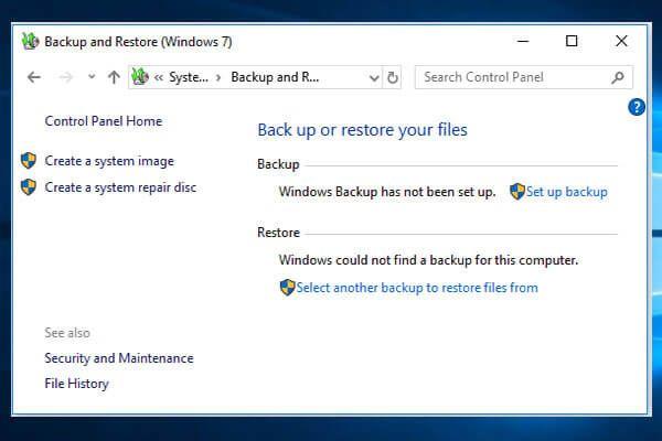 A Windows 7 biztonsági mentésének és visszaállításának használata (Windows 10 rendszeren) [MiniTool News]