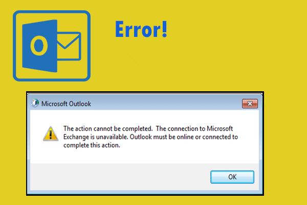 5 parimat viisi toimingu parandamiseks ei saa Outlookis tõrke saada [MiniTool News]
