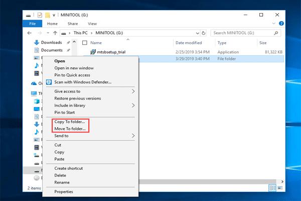 Windows 10'da Bağlam Menüsüne 'Taşı' ve 'Kopyala' Nasıl Eklenir [MiniTool Haberleri]