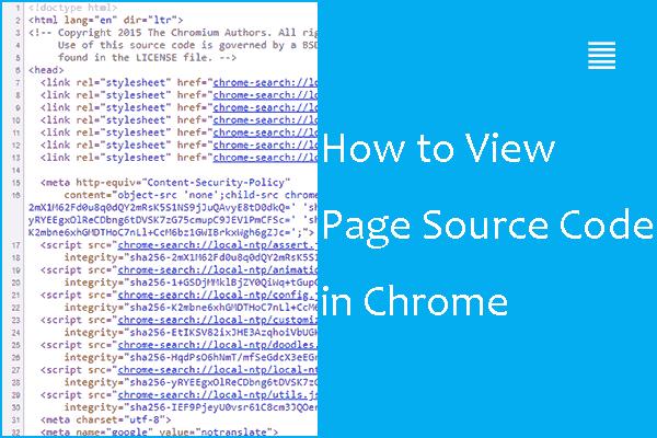 Kako pregledati izvorni kod u Chromeu? (2 metode) [MiniTool vijesti]